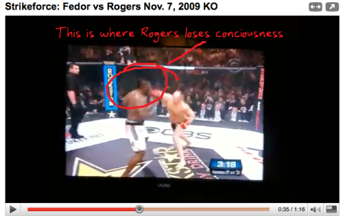 Fedor vs Rogers Knockout Video